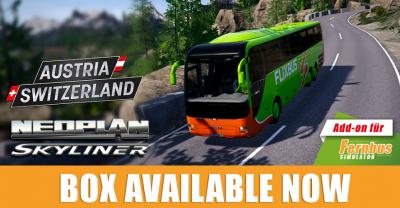 Fernbus Simulator Add-ons jetzt auch als Box lieferbar!