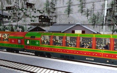 Free Christmas Train from SimTrain.ch