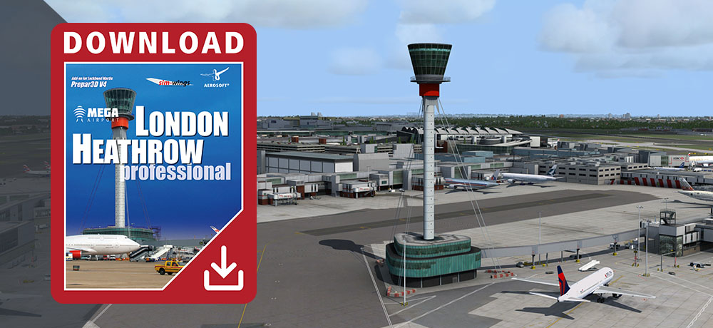 Mega Airport London Heathrow professional for Prepar3D V4