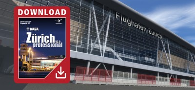 Mega Airport Zurich professional para Prepar3D V4