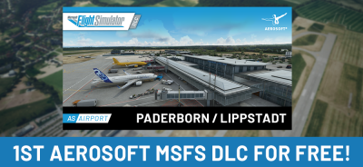 1st Aerosoft DLC for the new MSFS for free!